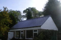 New Garage Roof with PVC Cladding